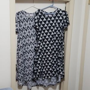 Lularoe Carlys. Black and white. TWO small